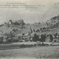 Environ d'Yssingeaux. Le château de Glavenas.-Ruines d'un château-fort du XIIIe s. situé sur un rocher très pittoresque, près la Gare de Bessamorel
