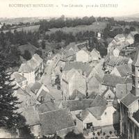 Rochefort-Montagne, vue générale prise du château