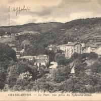 Châtel-Guyon.-Le Parc, vue du Splendid-Hôtel