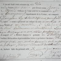 Acte de naissance de Philippe Glangeaud